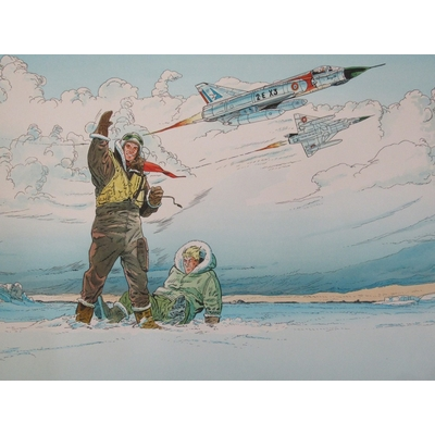 Bruno Marchand- illustration originale - Tanguy et Laverdure