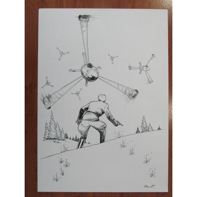 Henriet Alain - couverture originale Spirou - Dent d'ours