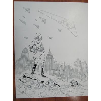 Henriet Alain - couverture originale - grand format -Dent d'ours - Amerika Bomber