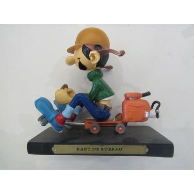 Franquin André - Figurine Gaston en résine- kart de bureau