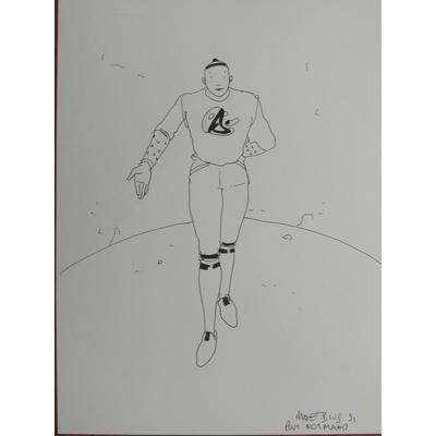 Moebius - illustration originale - signée