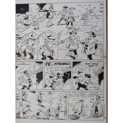 Mazel - planche originale - Câline et Calebasse, les mousquetaires