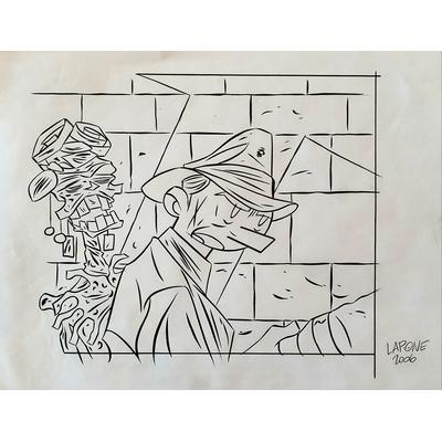 Lapone - illustration originale - case de la série A.D.A