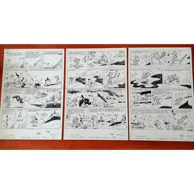 Mazel- Triptyque de 3 planches originales - Les fourmis