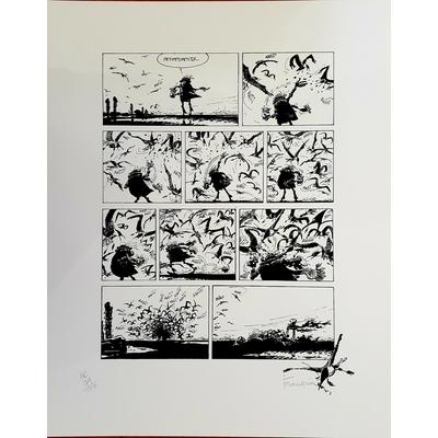 Franquin André -sérigraphie idées noires -signée