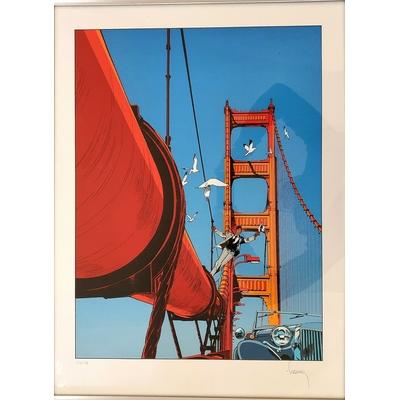Francq Philippe -sérigraphie Largo Winch - le pont - signée