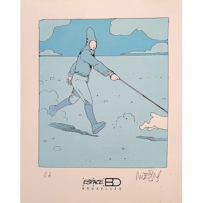 Moebius - ex-libris Espace BD - signé
