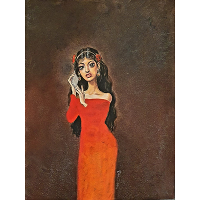 Dan - illustration originale Femme romantique - format A3