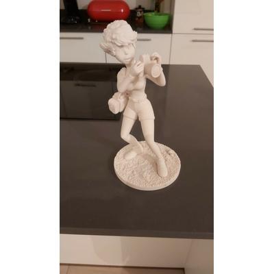 Wasterlain Marc- Prototype de la figurine Jeannette Pointu avec dessin original