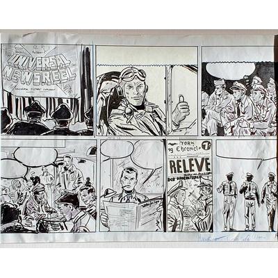Marniquet Frédéric - Demi-planche originale Buck Danny