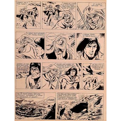 Magda et Linssen - planche originale Tumak
