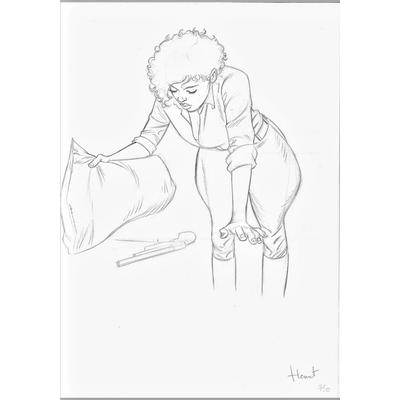Henriet Alain- illustration originale- Black Squaw