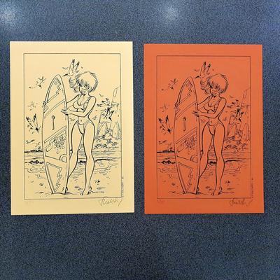 Walthéry - double ex-libris Natacha - 75 ex. -signé