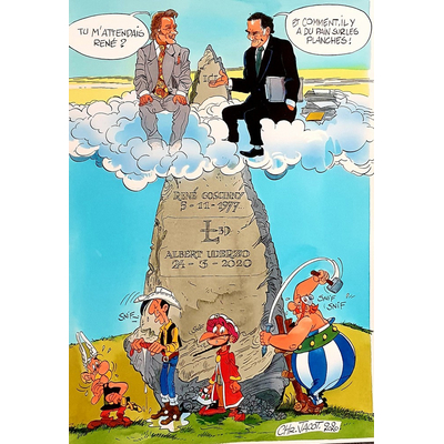 Jacot Christian - illustration originale hommage à Uderzo, Morris, Tabary et goscinny