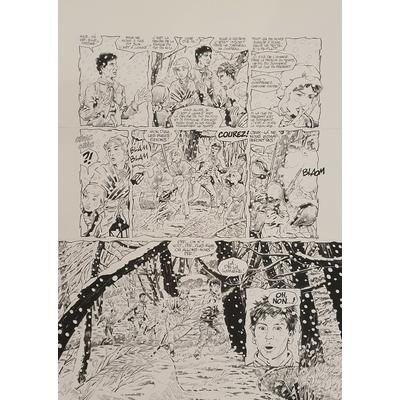 Glogowski Philippe - planche originale - Le trésor du Puy du fou