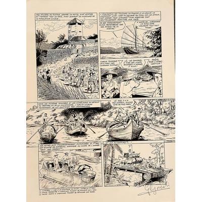 Glogowski Philippe - planche originale - Diêm Biên Phu