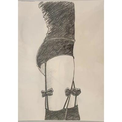 Glogowski Philippe - illustration originale -Journal de demoiselles ou contines de la vertu