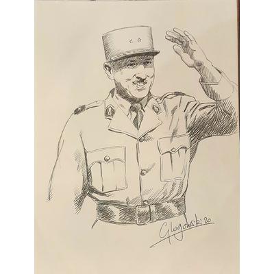 "Glogowski Philippe - illustration originale -Page de garde de la BD "" avec Koenig"""