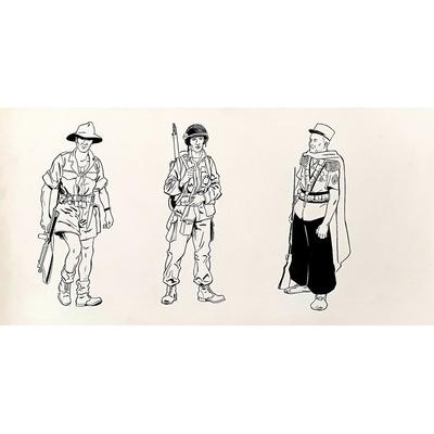 Glogowski Philippe - illustration originale - La légion