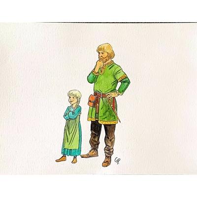 Glogowski Philippe - illustration originale - Vikings