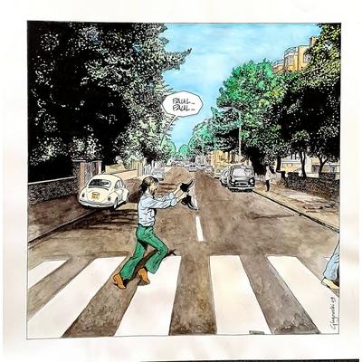 Glogowski Philippe - illustration originale - hommage aux Beatles