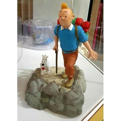 Hergé - Figurine Tintin randonneur - Objectif lune
