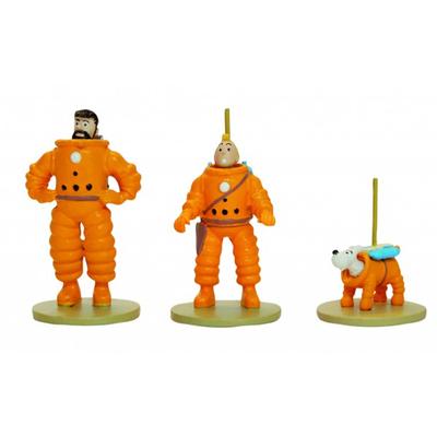 Hérgé- Tintin, haddock et Milou - coffret lune