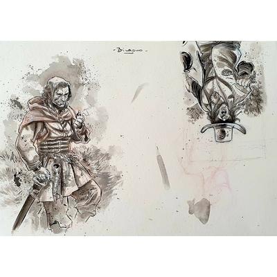Bingono - illustration originale à l'encre