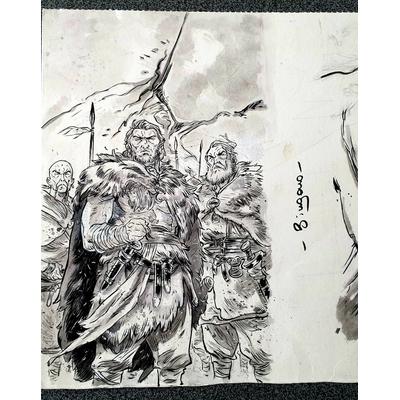 Bingono - illustration originale à l'encre - signé
