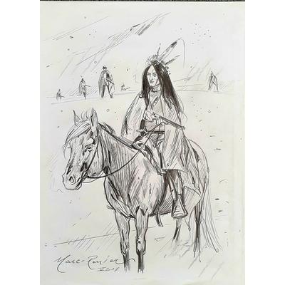 Marc-Renier -  illustration originale (projet de couverture) - Black Hills 1890