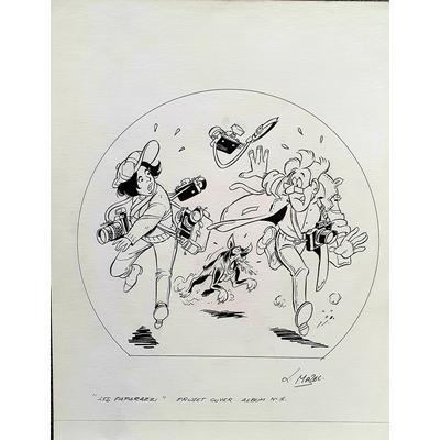 Mazel - illustration originale pour la couverture des Paparazzi