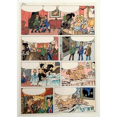 Collectif - planche originale + mise en couleur - Blagues coquines