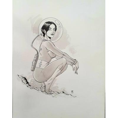 Paradis Louis -illustration originale