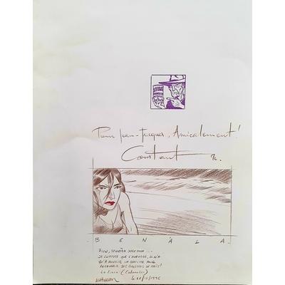 Constant Michel - dédicace Bitume signée