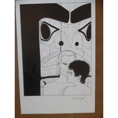 Renaud - dessin original ex-libris Santiag