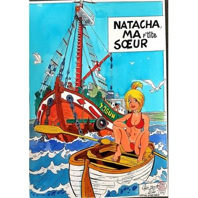 Jacot Christian - illustration originale hommage à Walthéry et Natacha