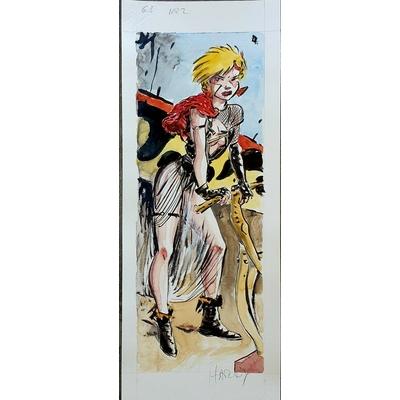 Marc Hardy - illustration originale Ange et Diablesses