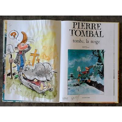 Hardy Marc - illustration originale ( dédicace en couleur) -Pierre Tombal T.16
