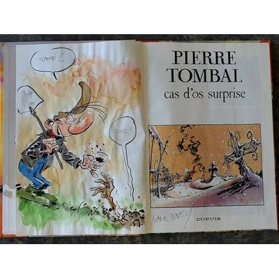 Hardy Marc - illustration originale ( dédicace en couleur) -Pierre Tombal T.7