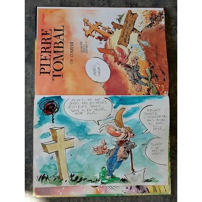Hardy Marc - illustration originale ( dédicace en couleur) -Pierre Tombal T.12 + AC