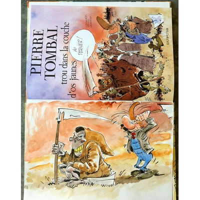 Hardy Marc - illustration originale ( dédicace en couleur) -Pierre Tombal T.8 + AC