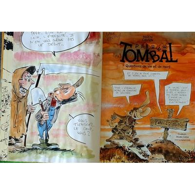 Hardy Marc - illustration originale ( dédicace en couleur) -Pierre Tombal T.30