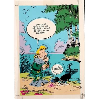 Turk - illustration originale (mise en couleur+film) - Robin Dubois perd la boule