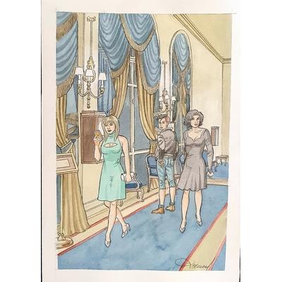 Renaud - aquarelle  originale pour l'ex-libris du TT