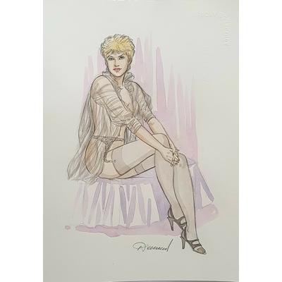 Renaud -illustration originale à l'aquarelle - Jessica Blandy