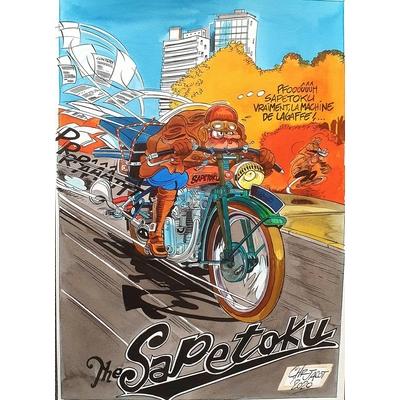 Jacot Christian - illustration originale hommage à Franquin