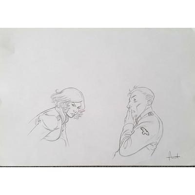Henriet Alain- illustration originale-Dent d'ours
