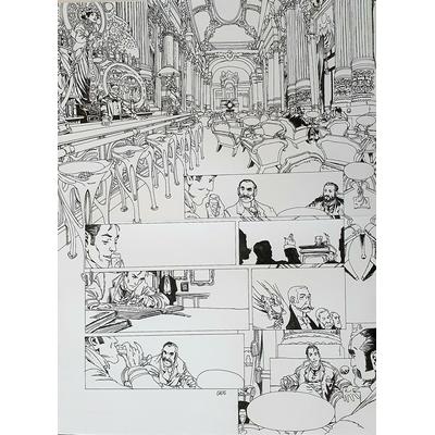 Gess - planche originale à l'encre(pl.14) - Moriarty T.3