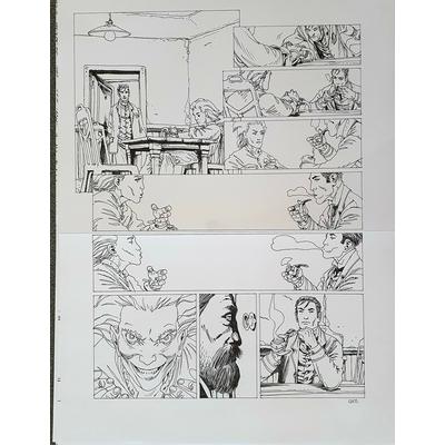 Gess - planche originale à l'encre(pl.19) - Moriarty T.3