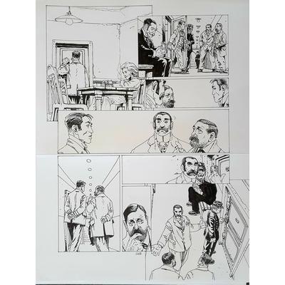 Gess - planche originale à l'encre(pl.20) - Moriarty T.3